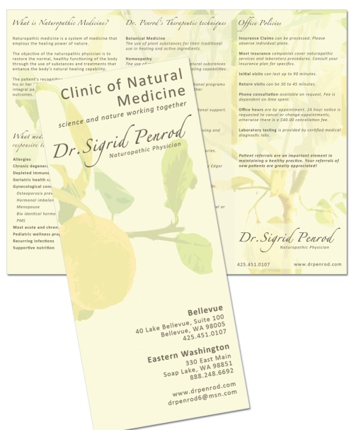 Doctor Sigrid Penrod's business brochure